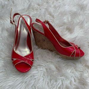Tommy Hilfiger women's cork wedge heel